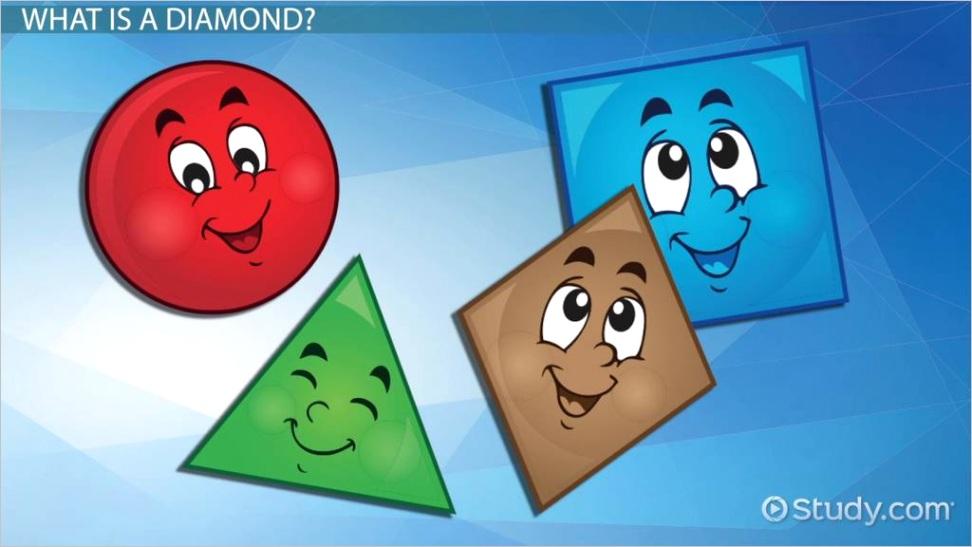 diamond shapes lesson for kidsml