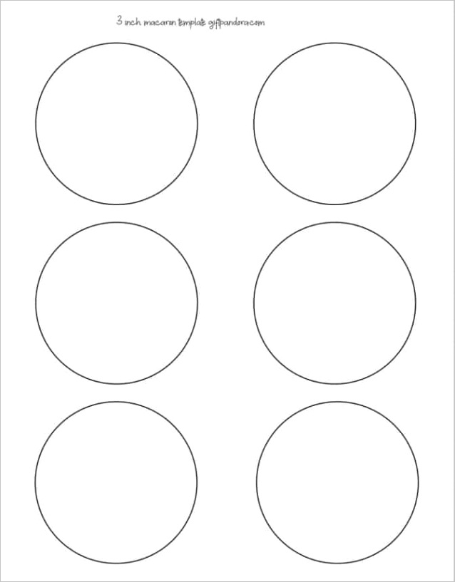 free printable macarons templates 3 inch 2 inch 1 5 inch macarons