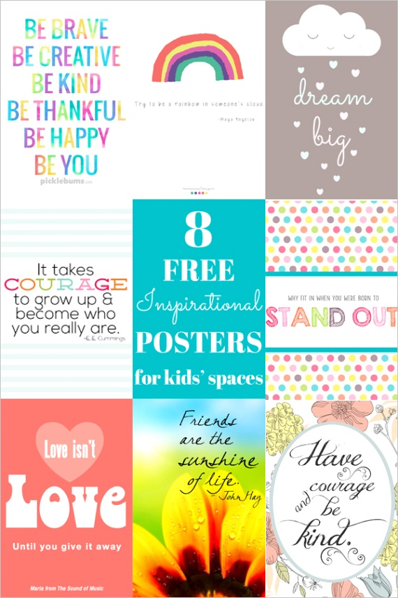 8 free inspirational quotes for kids theyre printable