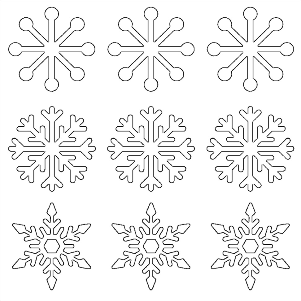 free printable snowflake templates large small stencil patterns