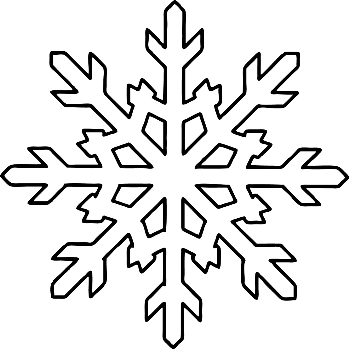 snowflake coloring pagesml