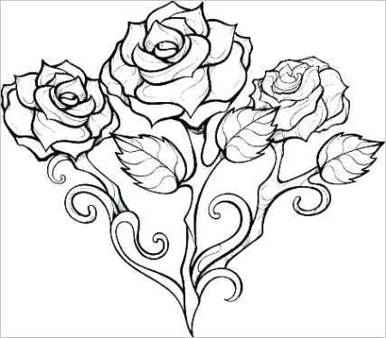 roses coloring pages idea