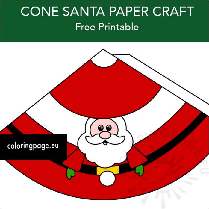 cone santa paper craft