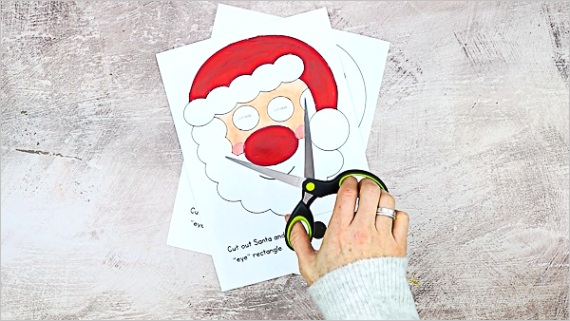 moving eyes santa craft