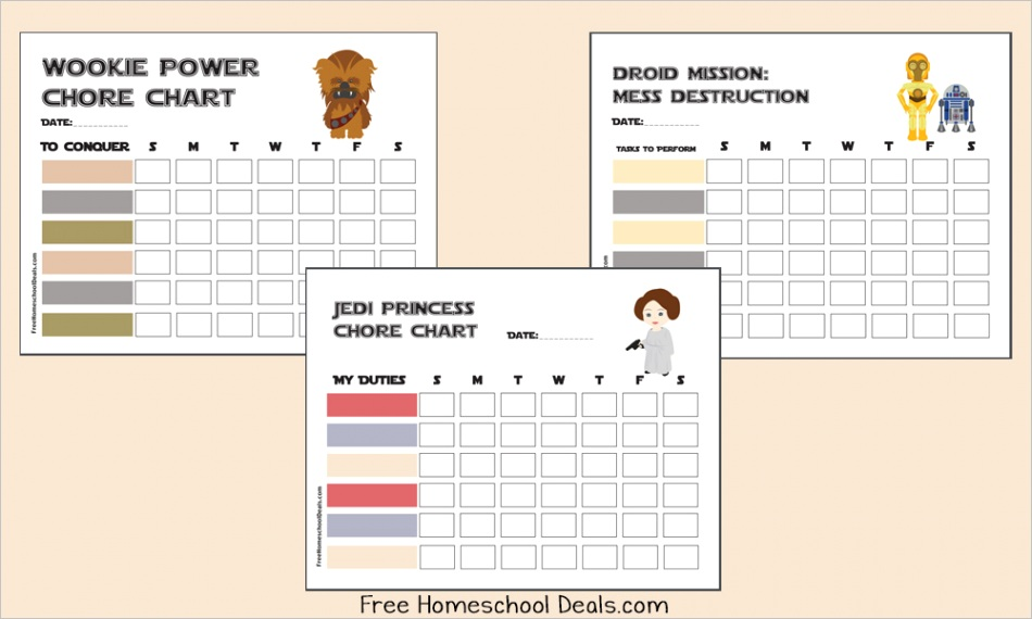 free printable star wars chore charts instant