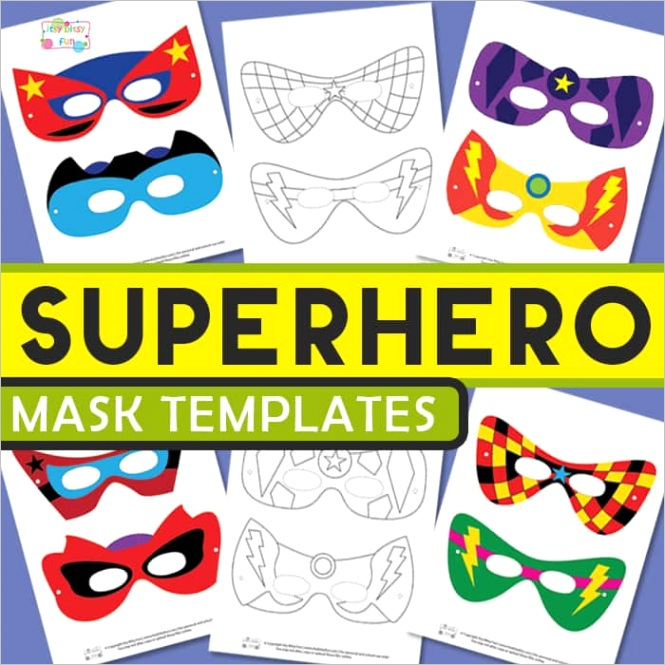 superhero mask templates
