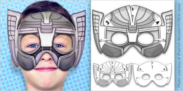 t t 3d mythical superhero mask printable