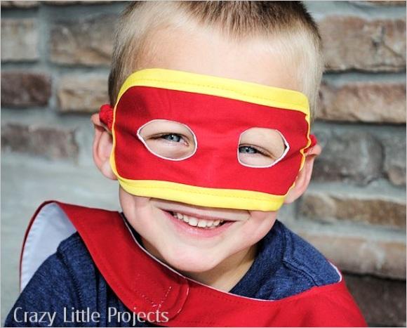 superhero mask tutorial and pattern