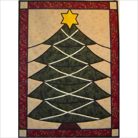 christmas tree stained glass pattern