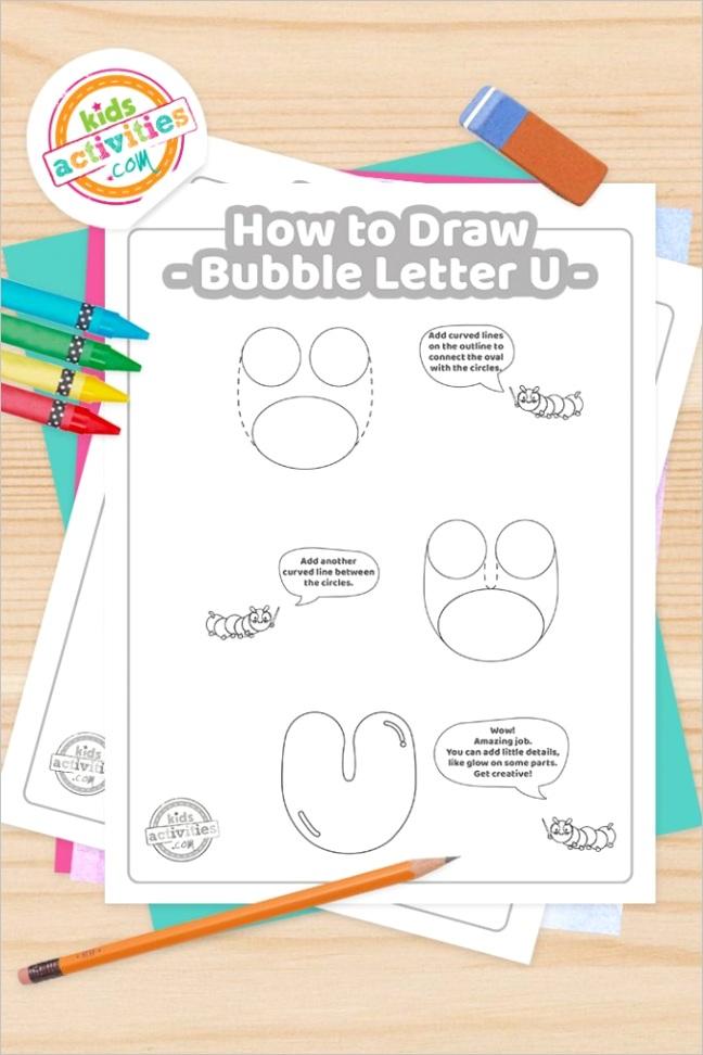 bubble letter u