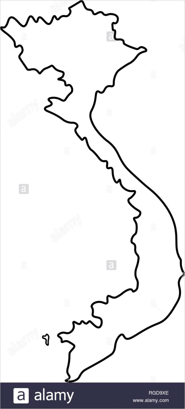 map of vietnam outline silhouette of vietnam map vector illustration image ml