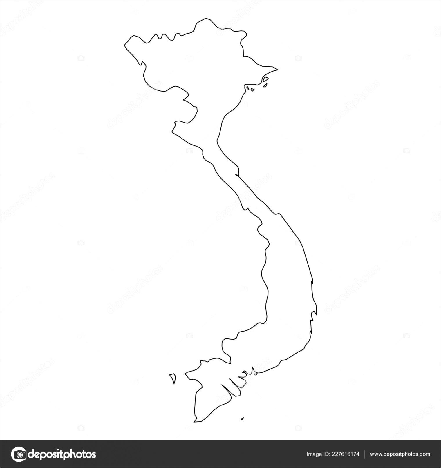 stock illustration vietnam solid black outline borderml