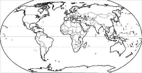 world map for school coloring page