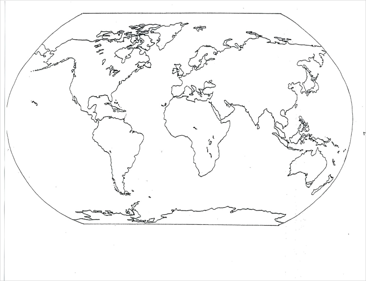 coloring pages of the world map