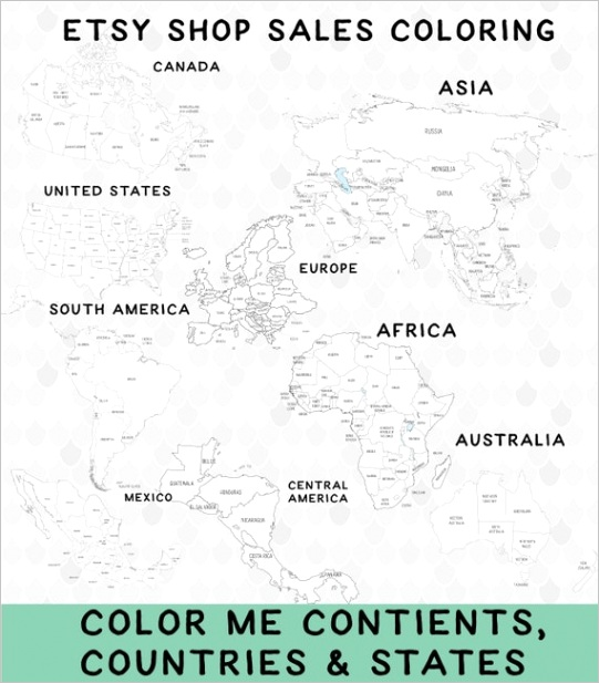 printable world map coloring pages