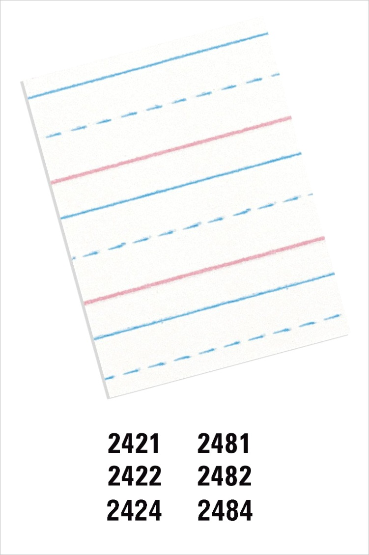 10LVX1CG pacon pac2482 pacon handwriting paper d 39 nealian grades 2 3 zaner bloser grade 2 1 2 x 1 4 x 1 4 r