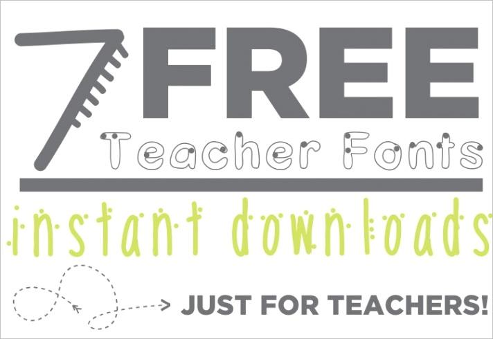 teacher free fonts