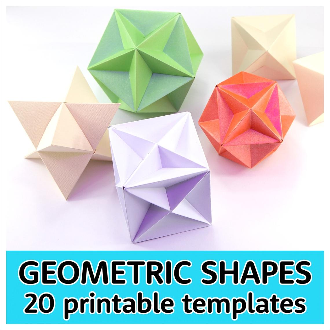printable paper 3d geometric shape templates