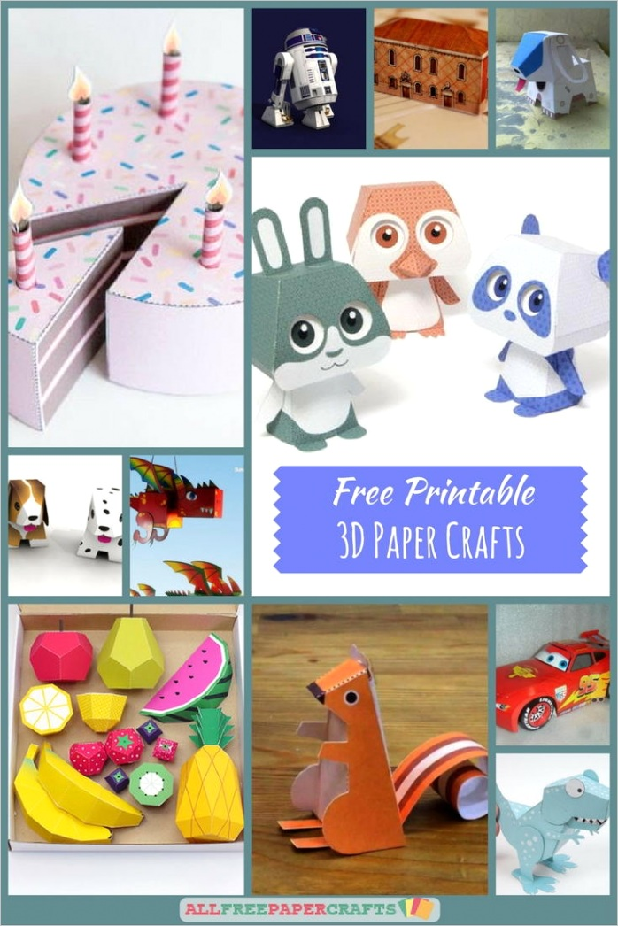 Free Printable 3D Paper Crafts