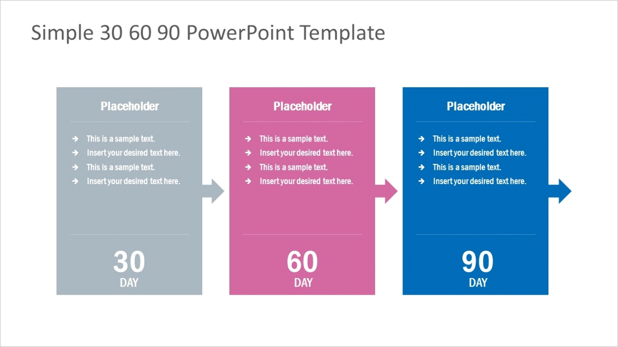 simple 30 60 90 day powerpoint template