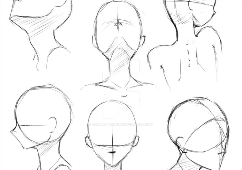 how to draw manga faces from differentml
