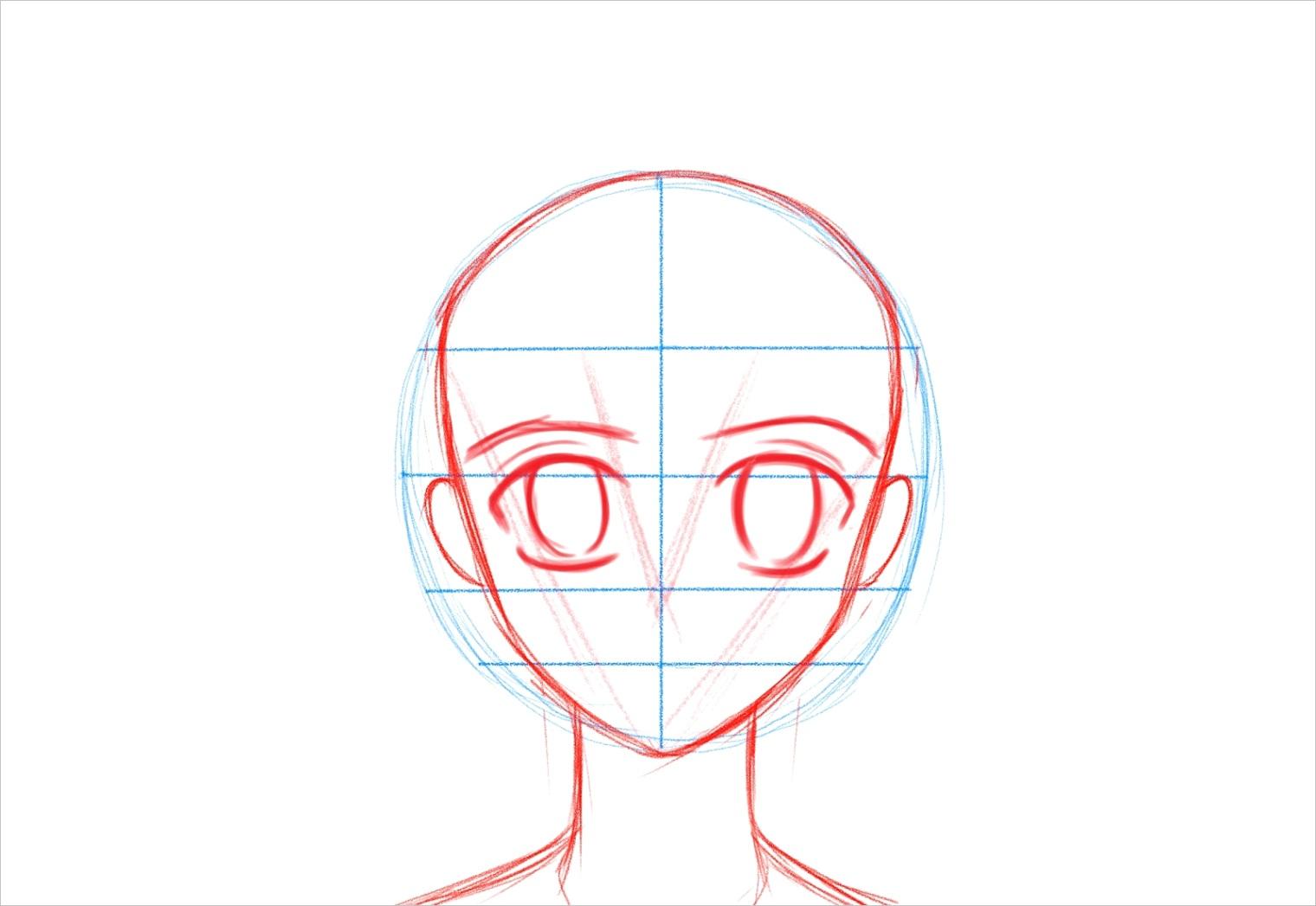 how to draw animemanga faceml