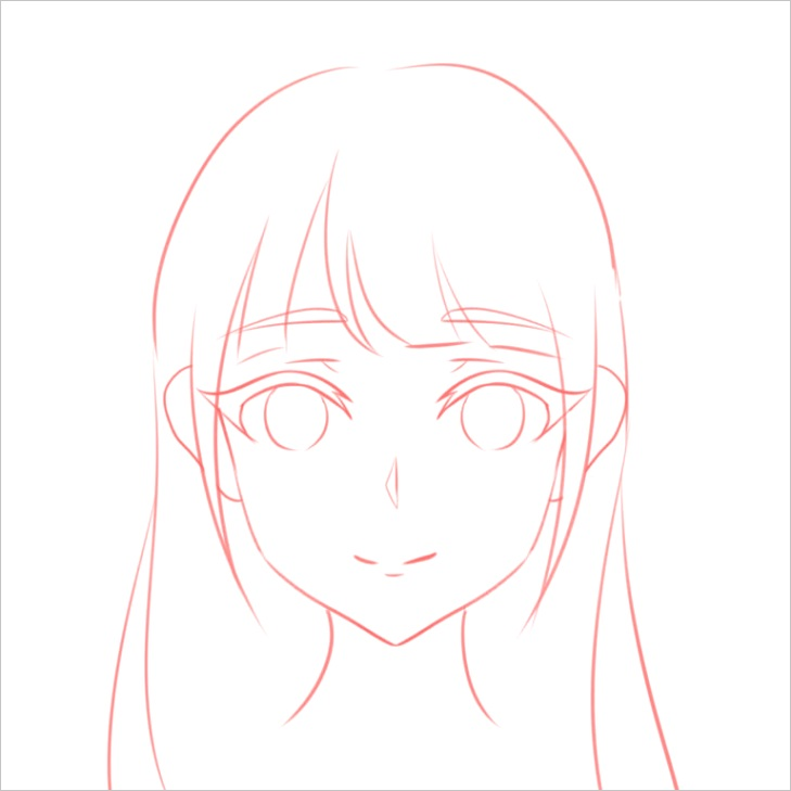 how to draw the head anime style guideline front view tutorial