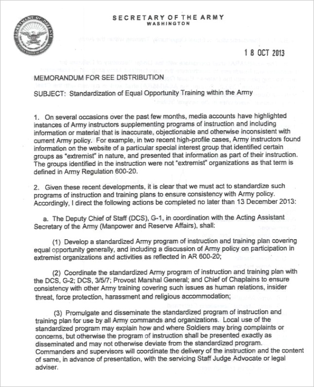 sample army memo templates example