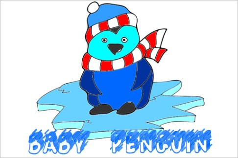 baby penguin coloring game