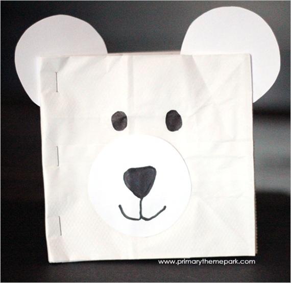polar bear paper bag book craft