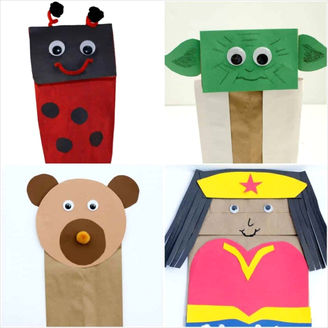 21 easy simple paper bag crafts
