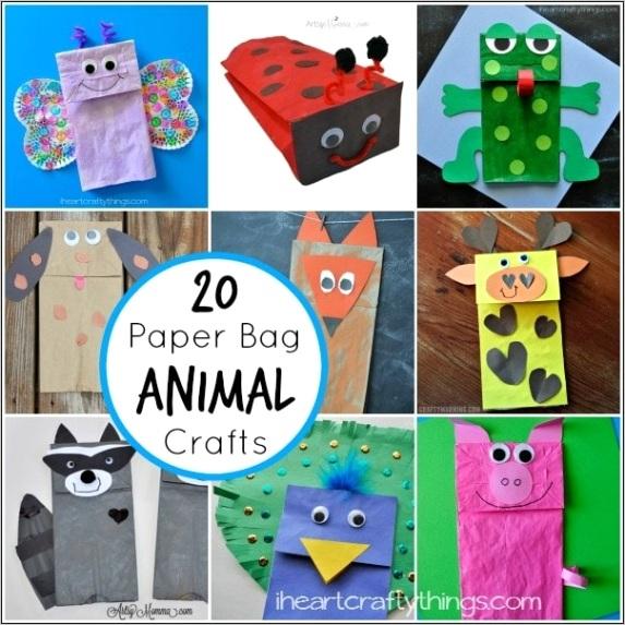 20 paper bag animal crafts for kidsml