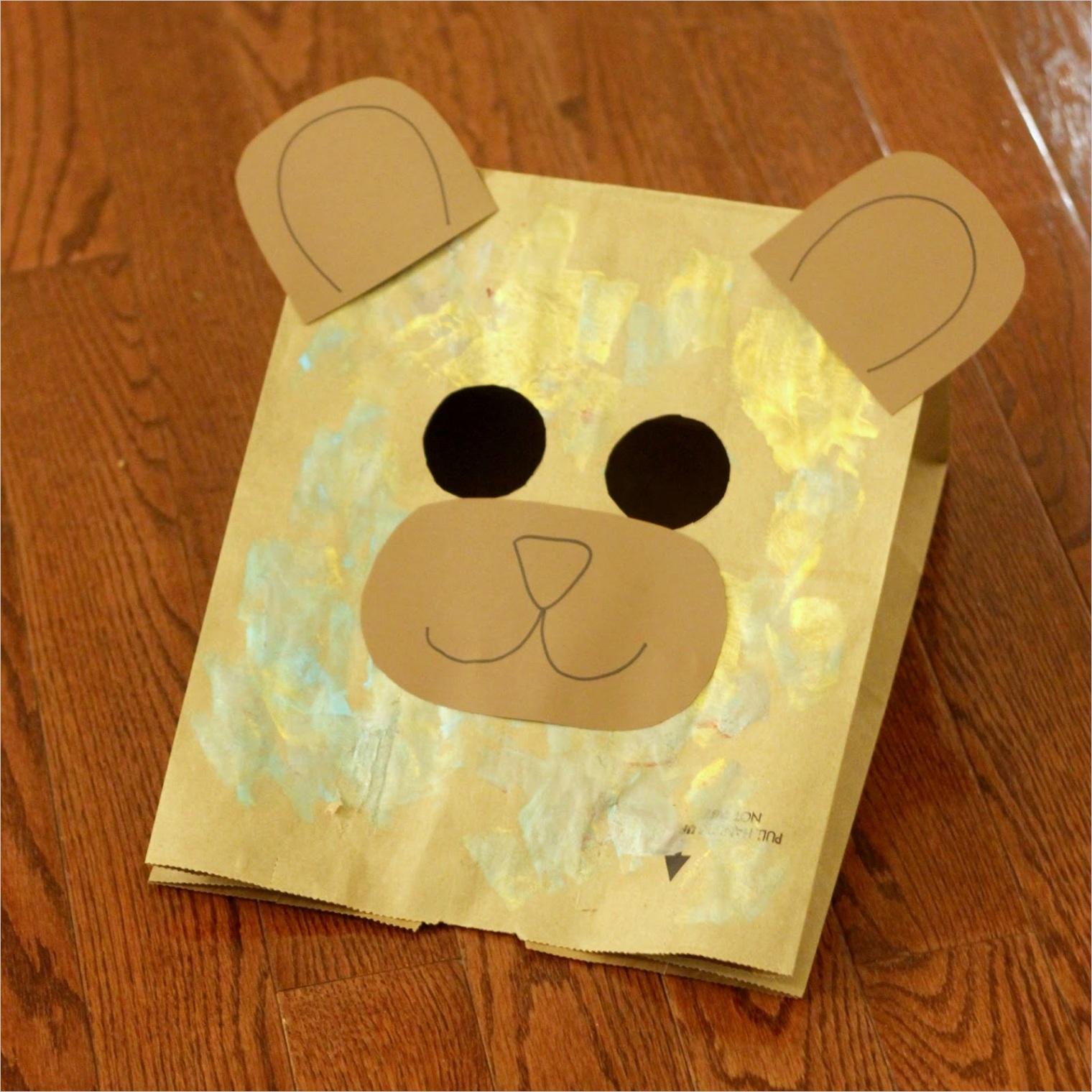 easy paper bag bear mask for kidsml