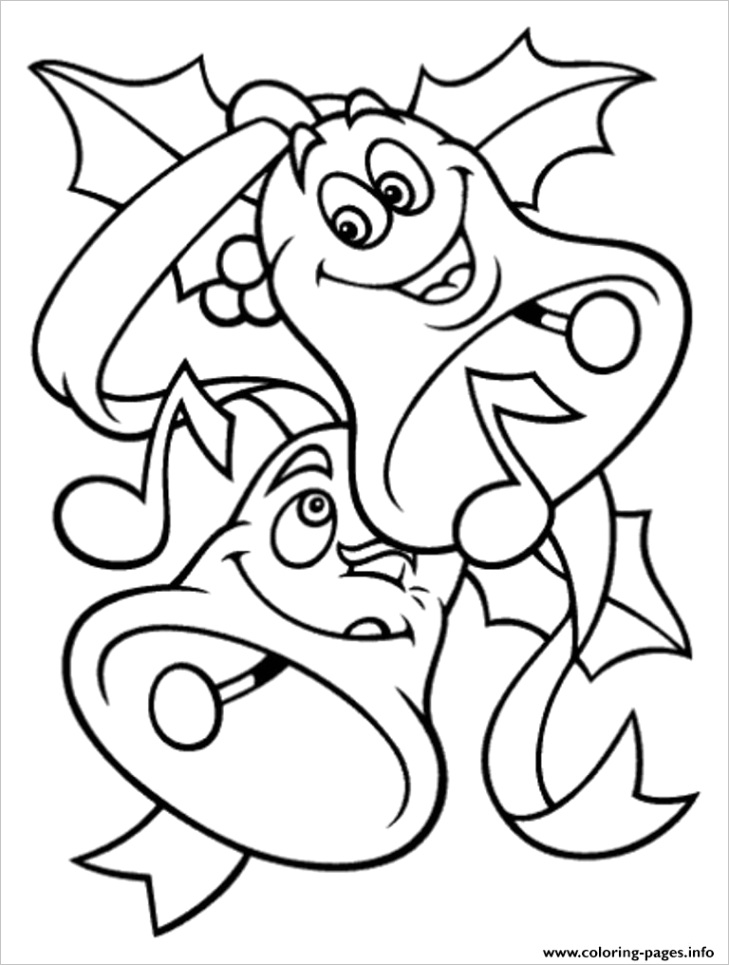 free s for christmas bells for kids2389 printable coloring pages book