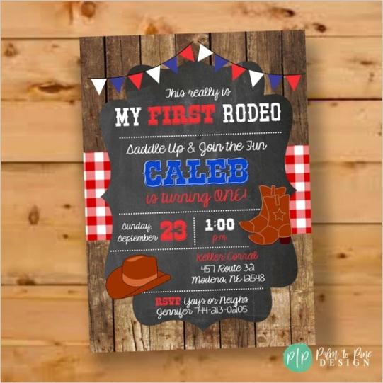cowboy birthday invitation cowgirl