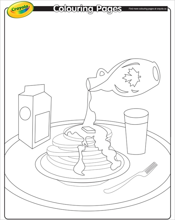 pancake breakfast coloring page