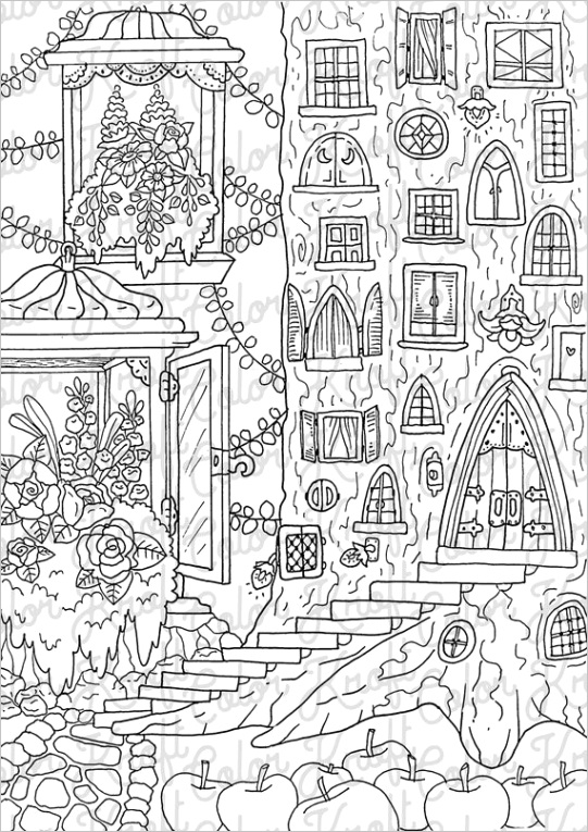 treetop bed and breakfast coloring page