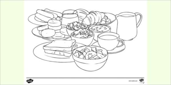 breakfast food colouring pages t tp