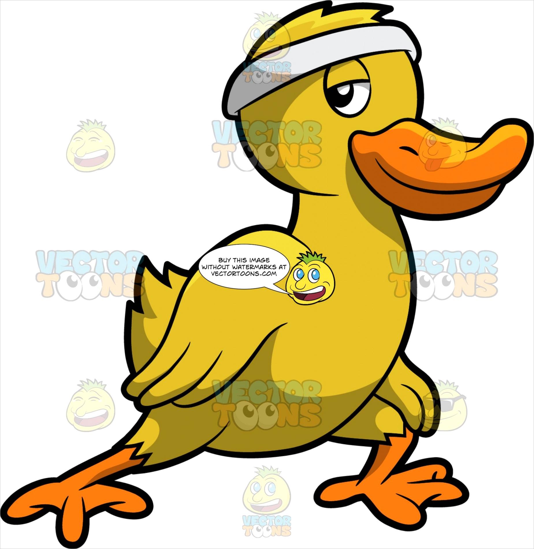 a dancing duck