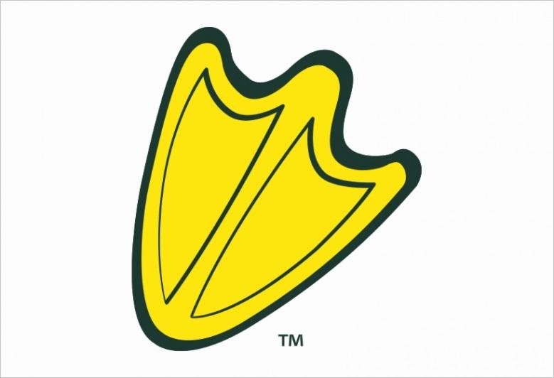 u2e6w7a9t4a9u2e6 duck foot yellow green outline oregon ducks foot