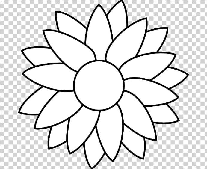 mon sunflower black and white free content png