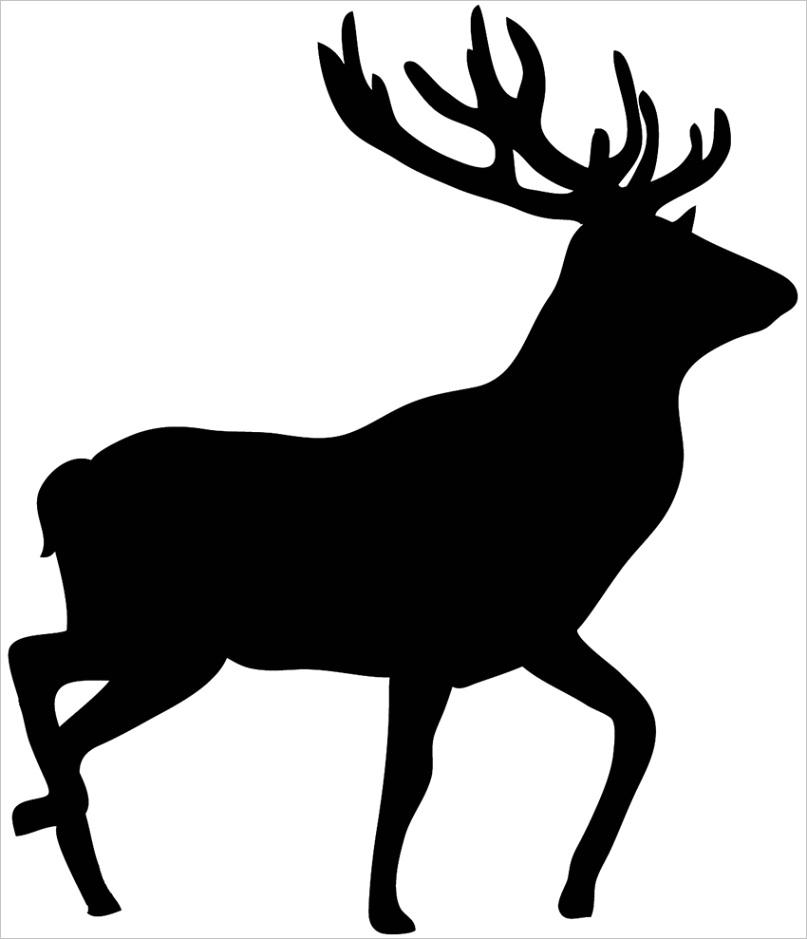 free deer silhouetteml