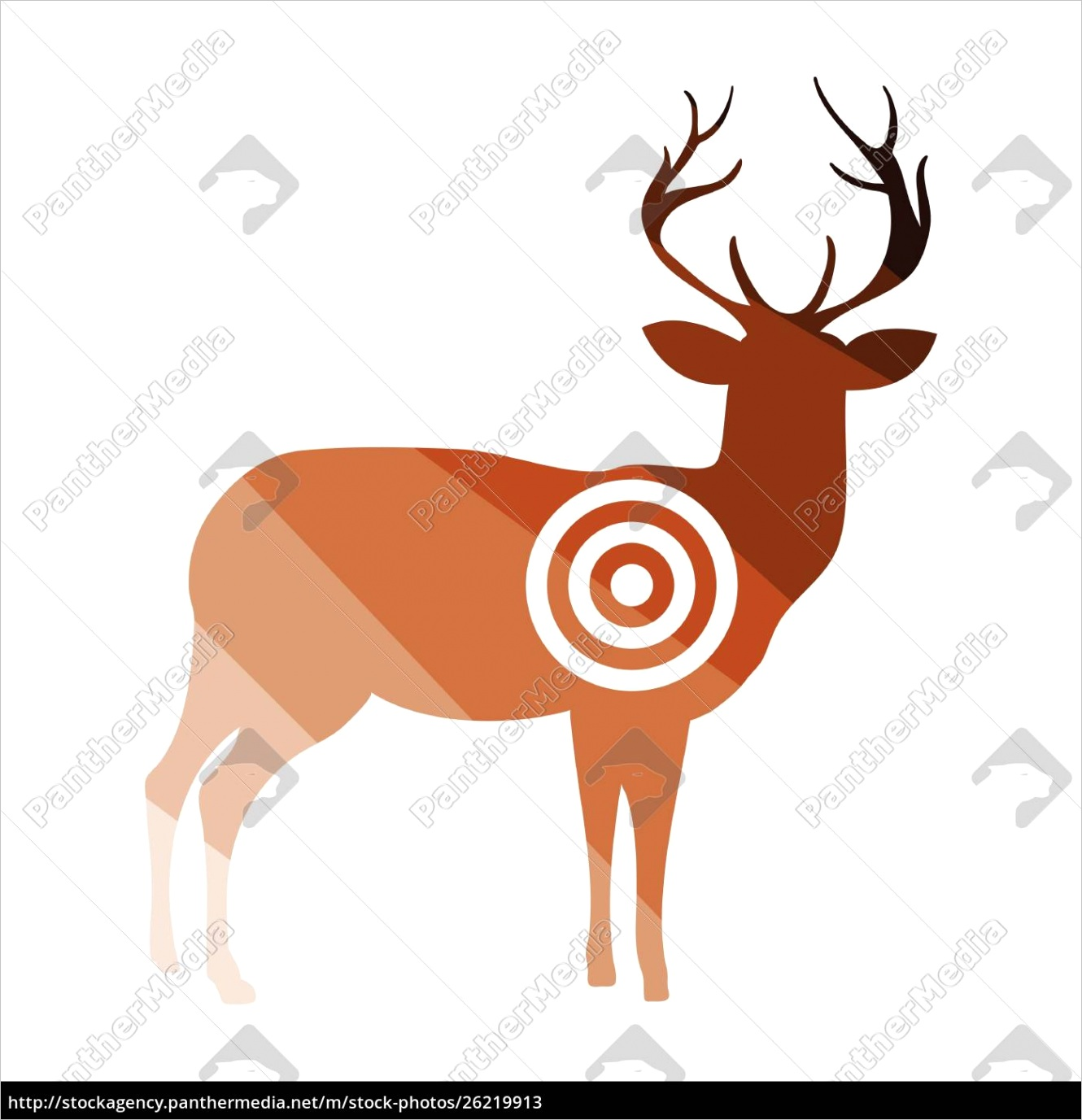 deer silhouette with tar icon
