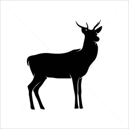 word=deer silhouette&ori search=deer&category=vectors