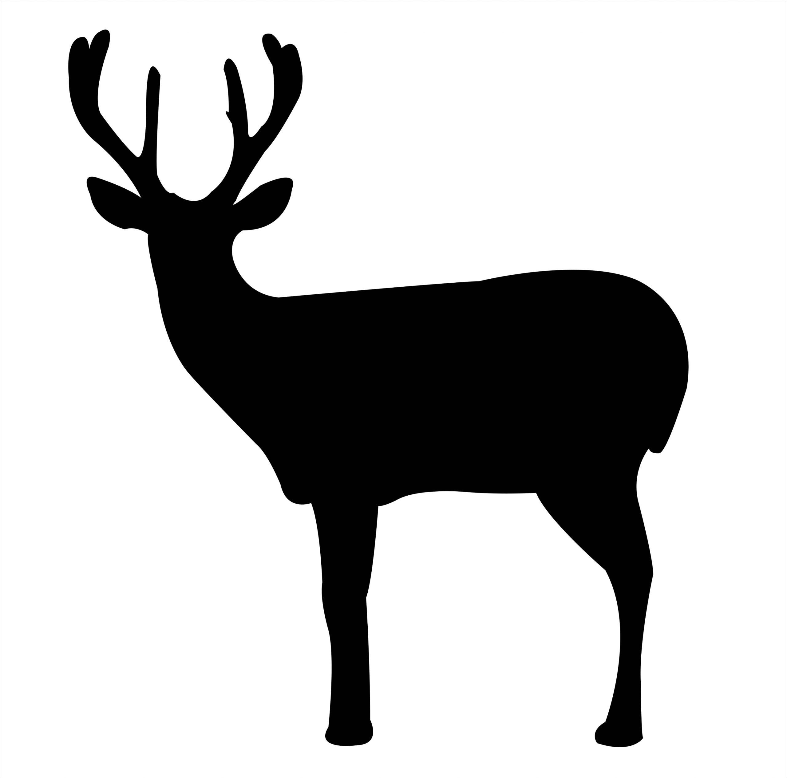 black deer silhouette free dxf file