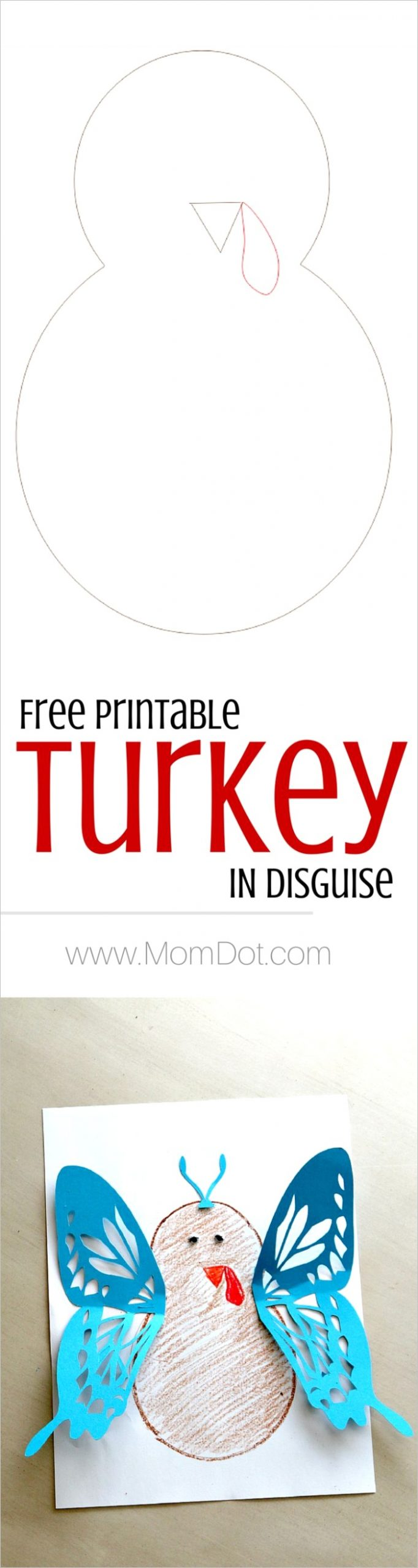 turkey in disguise free printable template