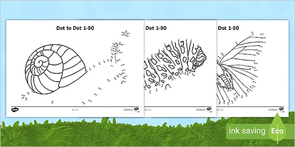 minibeasts themed dot to dot 1 to 50 activity sheets activity sheets t n 7836