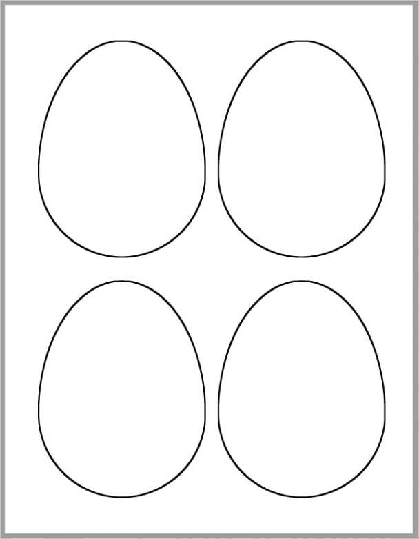 45 inch easter eggs template printable