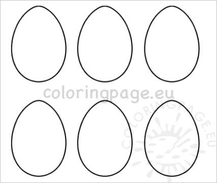 printable 6 easter egg templates