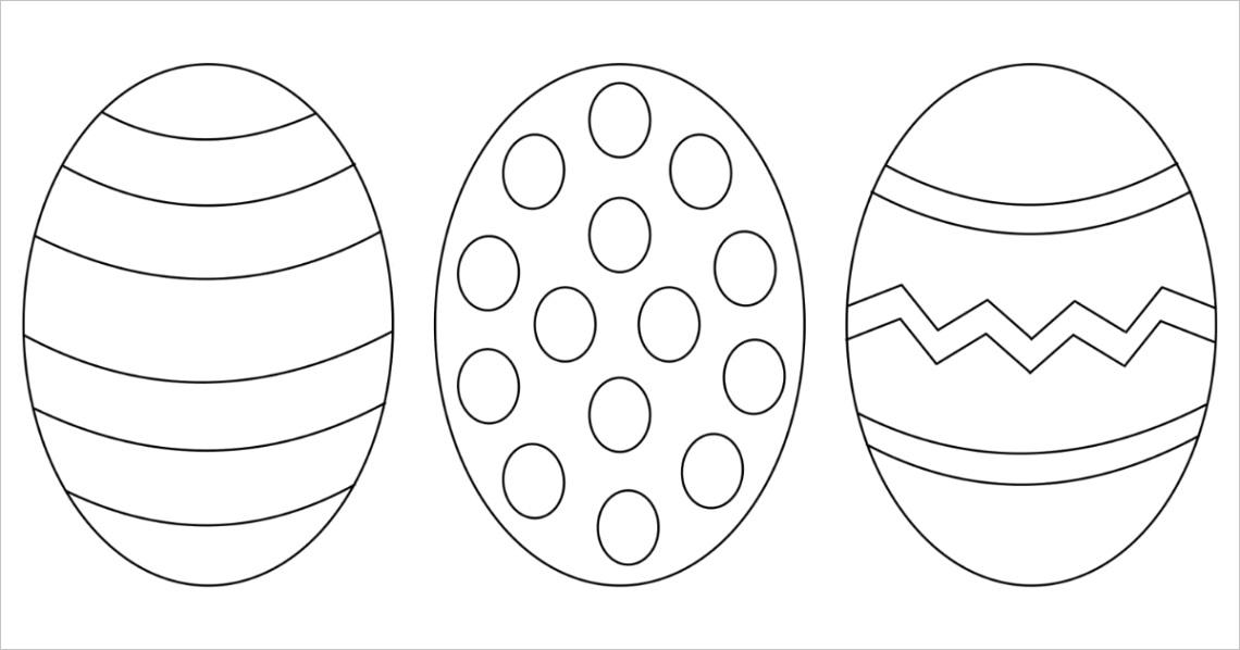 free easter egg printable